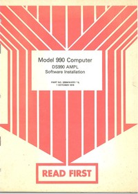 Model 990 Computer DS990 AMPL Software Installation