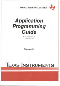 DX 10 Operating System Application Programming Guide Volume III