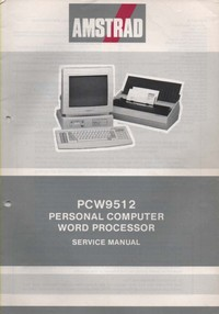 Amstrad PCW9512 Personal Computer Word Processor Service Manual
