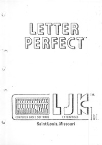 Letter Perfect - Apple II - LJK Enterprises