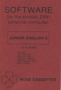 Sinclair ZX 81 Software - Junior English 2