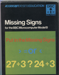 Missing Signs (Disk)