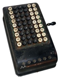 Burroughs Mechanical Desk Top Calculator