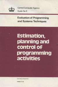 Estimation, Planning and Control of Programming Activities