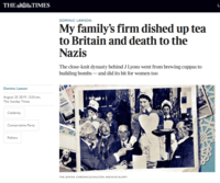 My family's firm dished up tea to Britain and death to the Nazis