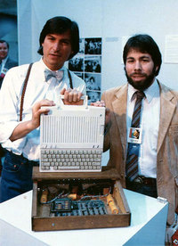 Steve Wozniak, Steve Jobs and Ronald Wayne Found Apple Computer Inc.
