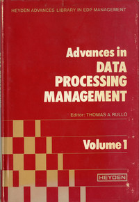 Advances in Data Processing Management (Volume 1)