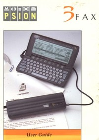 Psion 3 Fax User Guide