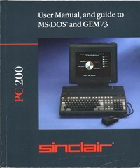 Sinclair User Manual MS-DOS and GEM/3