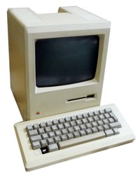 Apple Macintosh M0001 128K upgraded to 512K