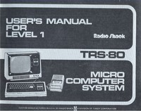 Tandy TRS-80 User's Manual for Level 1