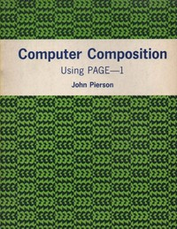 Computer composition using PAGE-1.