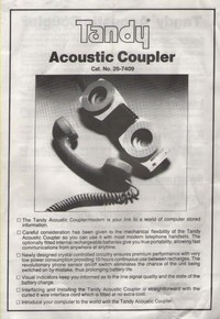 Tandy Acoustic Coupler Manual