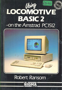 using Locomotice Basic 2 on the Amstrad PC1512