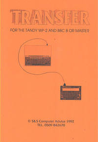 Transfer - Tandy WP-2 to BBC B/Master V2.10