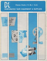 Data Link Perforated Tape Equipment & Supplis