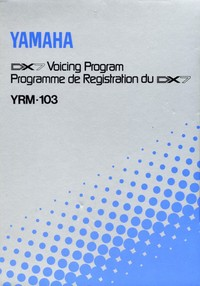 Yamaha FM DX7 Voicing Program YRM-103