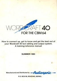 Wordcraft 40 for the CBM 64
