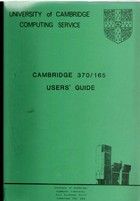 UCCL Cambridge 370/165 Users Guide