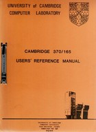 UCCL Cambridge 370/165 Users Reference Manual
