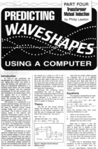 Predicting Waveshapes Using a Computer - Part IV - Transformer Mutual Induction