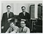 60473 Derek Hemy, Ernest Lenaerts, Gordon Gibbs and Leo Fantl with LEO I