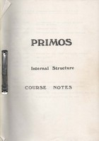 Primos Internal Structure O.S. Notes
