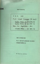 IBM 360 PL/1 Subset Language