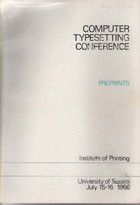 Computer Typesetting Conference Papers