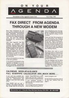 AgendA Newsletter No. 5 May 1991