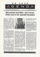 AgendA Newsletter No. 6 November 1991