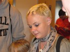 Gail Porter visits the stand