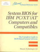 System BIOS for IBM PC/XT/AT Computers and Compatibles