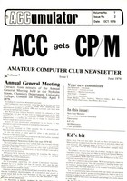 Amateur Computer Club - ACCumulator