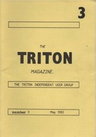 Triton Magazine No: 3 May 1983