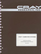 Cray - UNICOS Kernal Error Message Manual