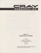 Cray-1 Computer Systems COS EXEC/STP/CSP Internal Reference Manual