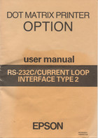 RS-232C/Current loop interface type 2 user manual