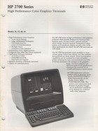 HP 2700 Series Color Graphics Terminals leaflet