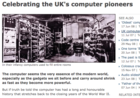 Celebrating the UK's Computer Pioneers