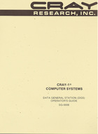 Cray-1 Computer Systems Data General Station (DGS) Operator's Guide