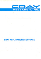 Cray Applications Software - General Electric Corporate Research and Development Schenectady, New York 12301