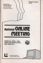Online Review National Online Meeting 1982