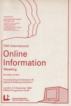 10th International Online Meeting 1986 Programme
