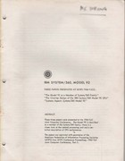 IBM System  360 Model 92 Three Papers