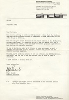 Apology letter from Nigel Searle