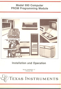 Model 990 Computer PROM Programming Module Instalaltion and Operation