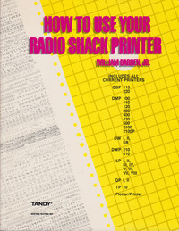 How to Use Your Radio Shack Printer