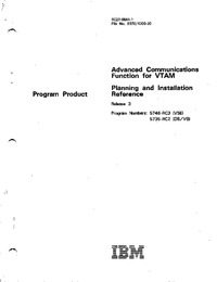 Advanced Communications Function for VTAM Planning and Installation Reference Release 3