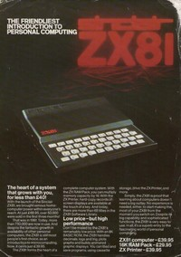 Sinclair ZX81 Leaflet 2 page
